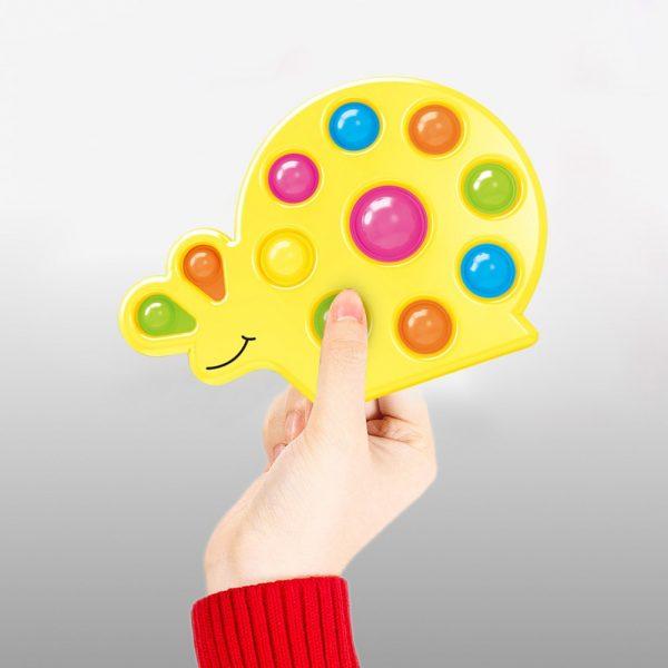 Snail Shape Kids Simple Dimple Fidget Toy Push Bubble Sensory Toy Anti stress Relaxing Fidget Autism 1 - Popping Fidgets
