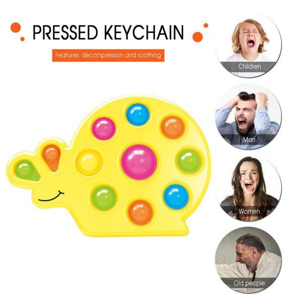 Snail Shape Kids Simple Dimple Fidget Toy Push Bubble Sensory Toy Anti stress Relaxing Fidget Autism 3 - Popping Fidgets