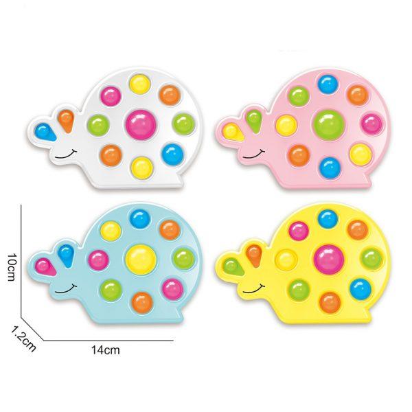 Snail Shape Kids Simple Dimple Fidget Toy Push Bubble Sensory Toy Anti stress Relaxing Fidget Autism 5 - Popping Fidgets