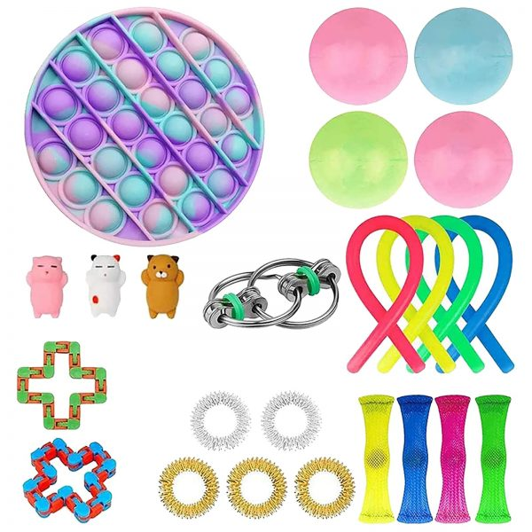 TOP Fidget Toys Pack Anti Stress Toy Set Marble Relief Gift for Adults Girl Children Sensory 1 - Popping Fidgets