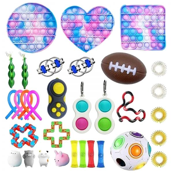 TOP Fidget Toys Pack Anti Stress Toy Set Marble Relief Gift for Adults Girl Children Sensory 2 - Popping Fidgets
