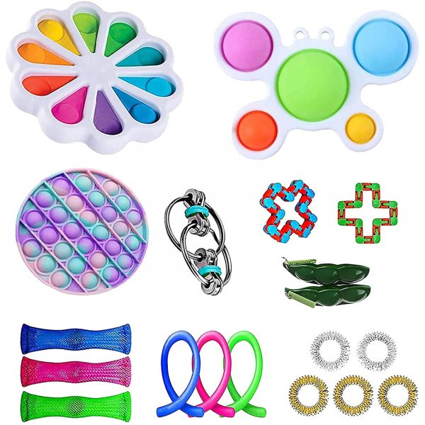 TOP Fidget Toys Pack Anti Stress Toy Set Marble Relief Gift for Adults Girl Children Sensory 5 - Popping Fidgets
