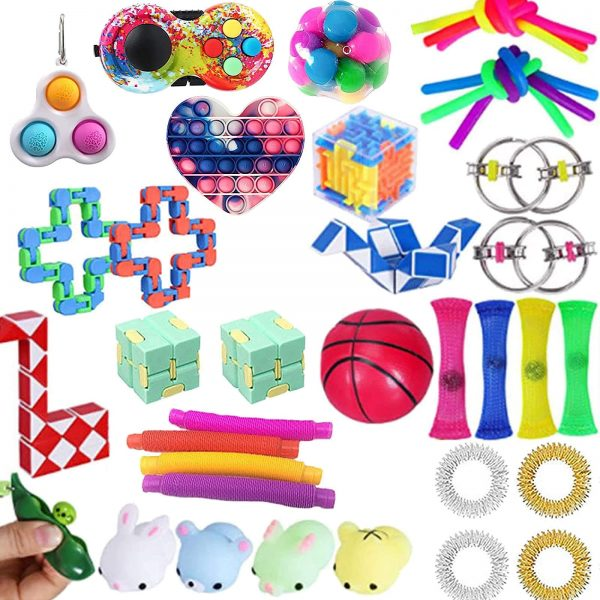 TOP Fidget Toys Pack Anti Stress Toy Set Marble Relief Gift for Adults Girl Children Sensory - Popping Fidgets