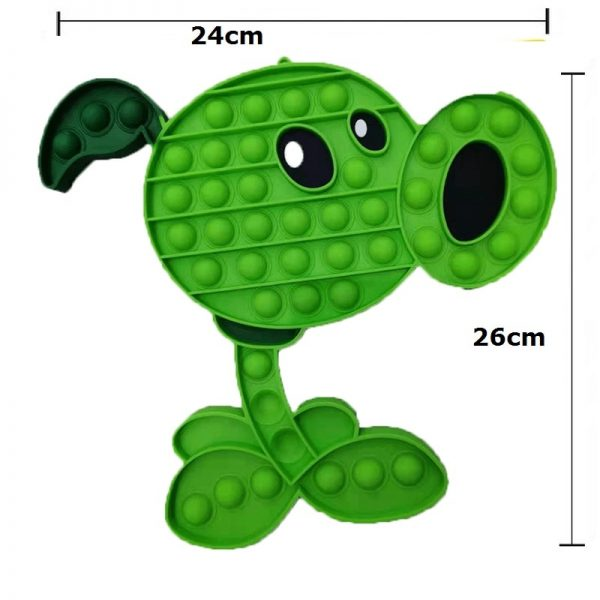 Plant VS Zombie Fidget Toys Anime Anti Stress Push Bubble Figet Antistress Reliever Child Funny Game 4 - Popping Fidgets