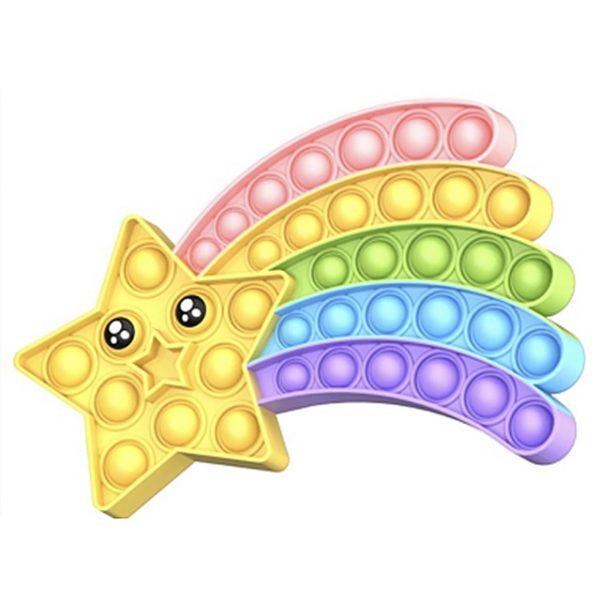 Rainbow Pop Fidget Stress Relief Squeeze Toys for Kid Squishy Sensory Anti Stress Game Hand Simple 1.jpg 640x640 1 - Popping Fidgets