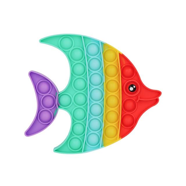 Rainbow Pop Fidget Stress Relief Squeeze Toys for Kid Squishy Sensory Anti Stress Game Hand Simple 11.jpg 640x640 11 - Popping Fidgets