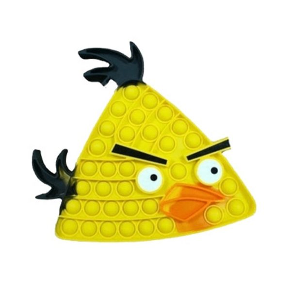 angry bird chuck pop it fidget toy