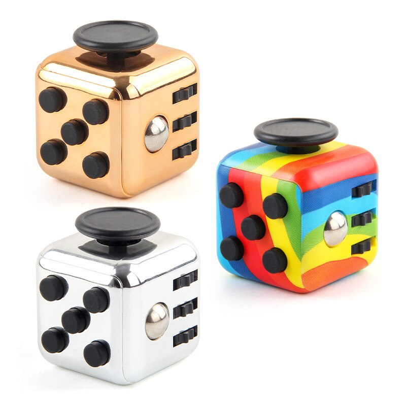 colourful cube fidget cube toy 2720 - Popping Fidgets