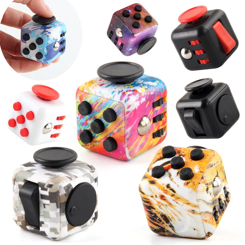 colourful cube fidget cube toy 6839 - Popping Fidgets