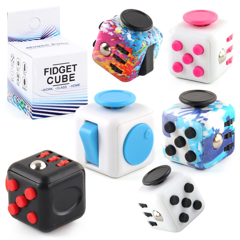 colourful cube fidget cube toy 8792 - Popping Fidgets